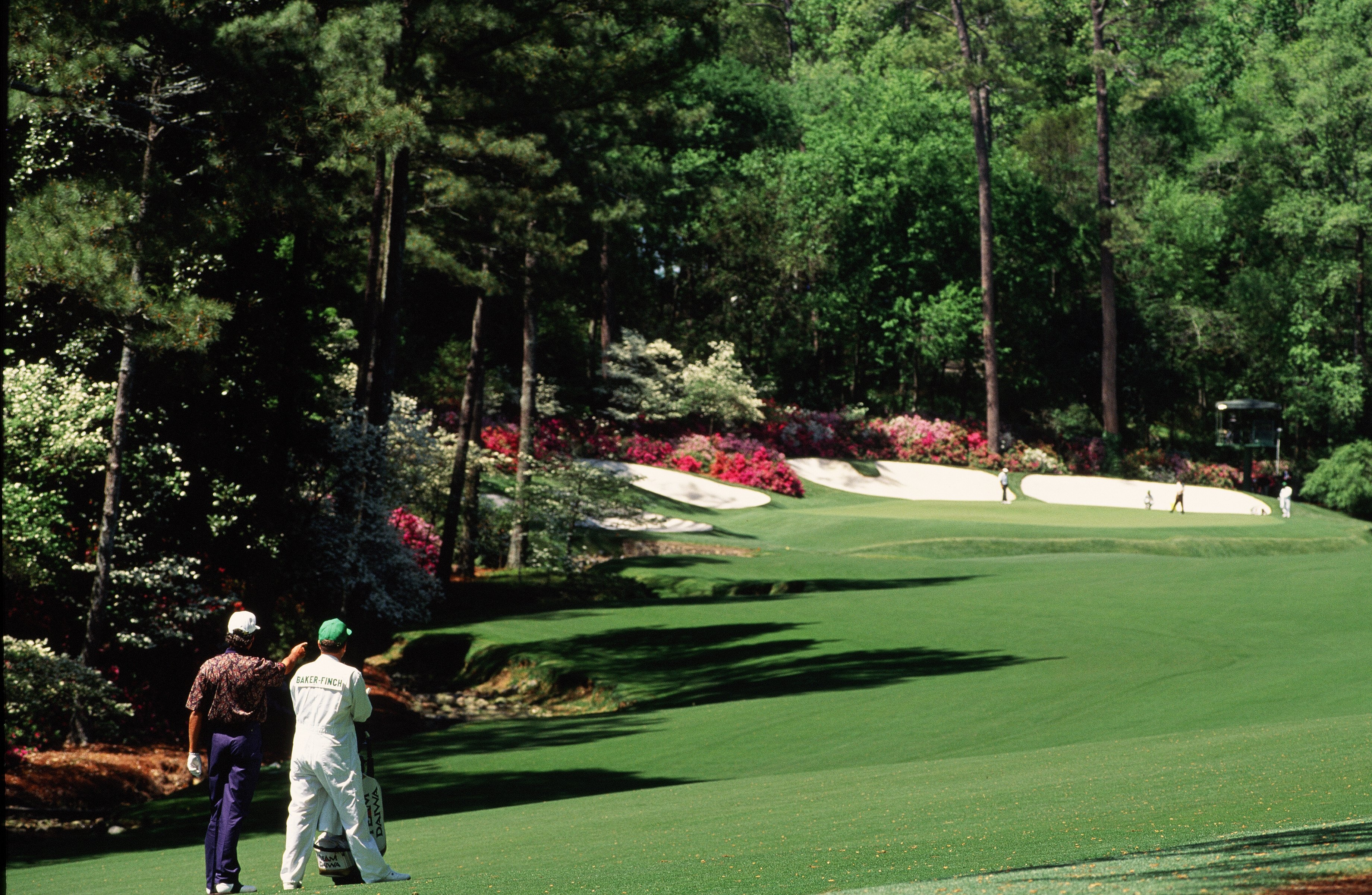 AUGUSTA, GEORGIA - APRIL: Ian Baker-Finch On The 13th Hole During The 1994 Masters Tournament.  (Photo by Augusta National/Getty Images)
