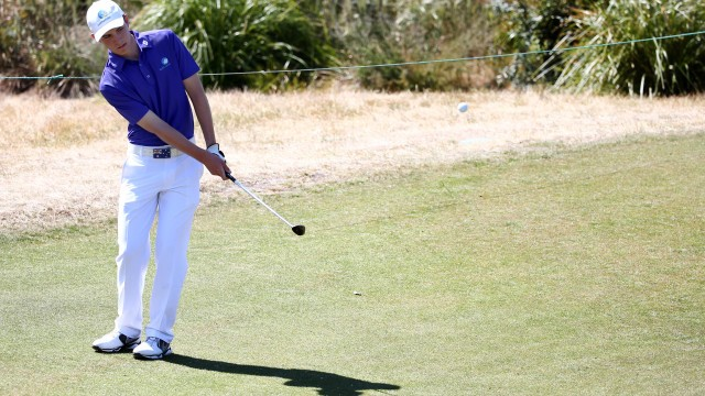 Melbourne, Australia: Ryan Ruffels of Australia pictured at the 2104 Asia-Pacific Amateur Championship at the Royal Melbourne Golf Club during the practice round on October 20, 2014. (Photo by Brett Crockford/AAC)