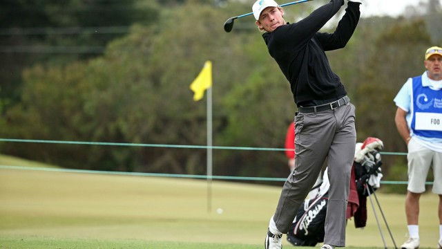 Melbourne, Australia: Todd Sinnott of Australia pictured at the 2104 Asia-Pacific Amateur Championship at the Royal Melbourne Golf Club during round 01 on October 23, 2014. (Photo by Brett Crockford/AAC)