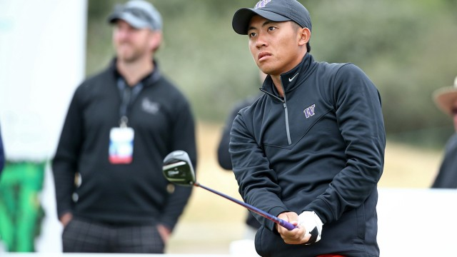 Melbourne, Australia: Cheng-tsung Pan of Chinese Taipei pictured at the 2104 Asia-Pacific Amateur Championship at the Royal Melbourne Golf Club during round 03 on October 25, 2014. (Photo by Brett Crockford/AAC)