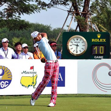 Guan Tianlang of China in action at the Asia-Pacific Amateur Championship at Amata Spring Country Club, November 1-4, 2012 in Chon Buri, Thailand. (Photo by Paul Lakatos/AAC)