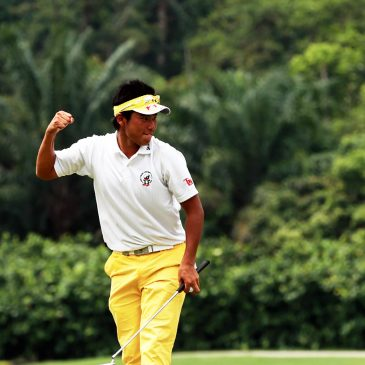 Hideki Matsuyama of Japan is pictured during the final round of the Asia-Pacific Amateur Championship at The Singapore Island Country Club - New Course, on October 2, 2011, in Singapore. (Photo by Augusta National/Getty Images)