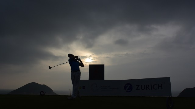Hong Kong: Heavy rain clouds hovering above the course early morning during the Round 3 of the 2015 Asia-Pacific Amateur Championship at the Clearwater Bay Golf & Country Club in Hong Kong on October 03, 2015. (Photo by Stanley Chou/AAC)