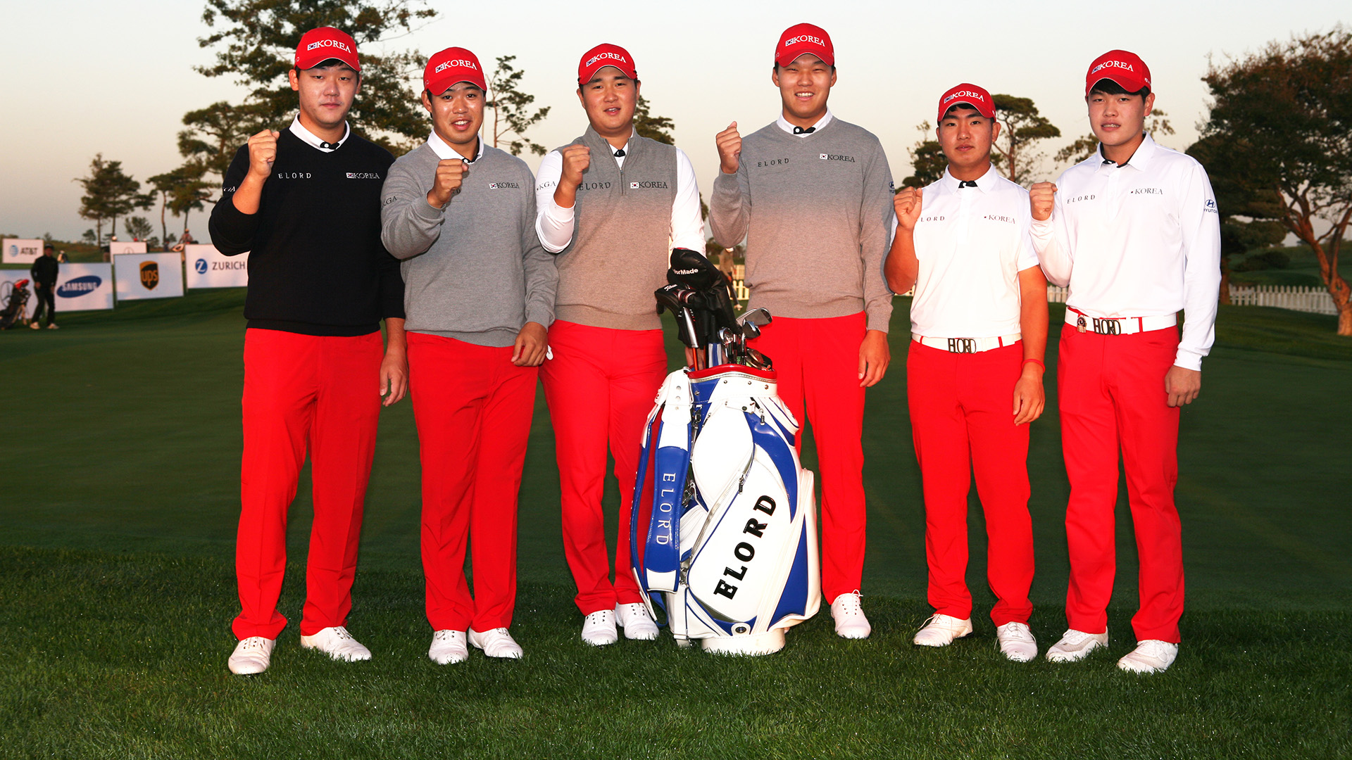 Incheon, South Korea: Team Korea during the official practice round ahead of the 2016 Asia-Pacific Amateur Championship at the Jack Nicklaus Golf Club in Korea on October 4th, 2016. (Photo by AAC)
