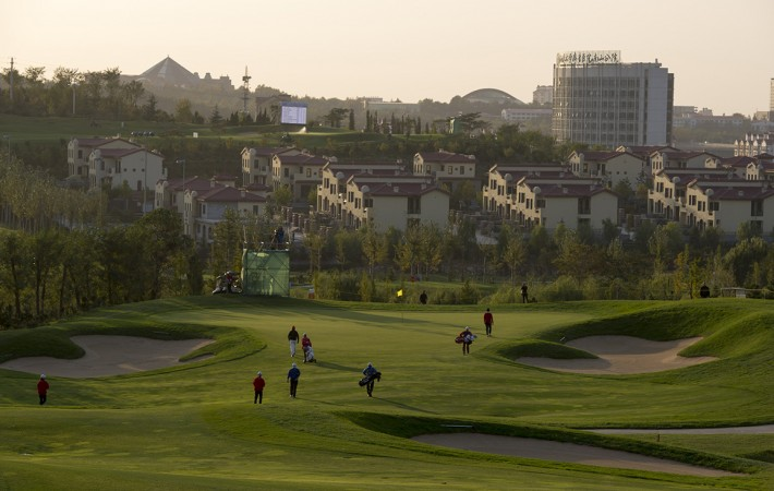LONGKOU CITY, China: is pictured at the Asia -Pacific Amateur Championship at Nanshan International Golf Club, Garden Course during round one on Thursday, October 24, 2013. Picture by David Paul Morris/AAC.